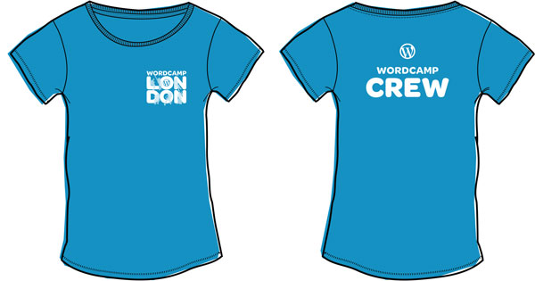 Image of Elliott Porter's WordCamp London 2018 t-shirt design