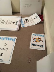 Image of Elliott Porter's WordCamp London 2018 signage sorting
